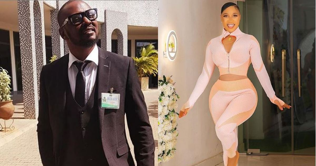 Prince Kpokpogri shares screenshot of messages allegedly sent by Tonto Dikeh, denies being responsible for leaked audio