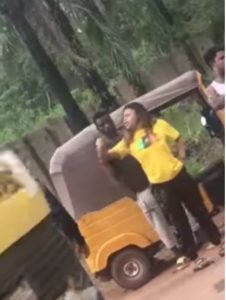 Policeman Caught On Camera Assaulting Woman And Calling Her 'Ashawo' In Enugu (Video)